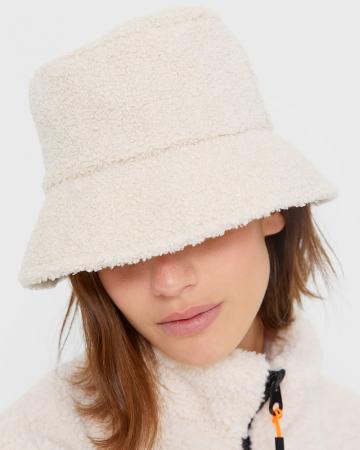Bucket hat in teddy