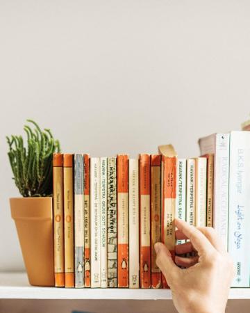 Boekensteun waar je plantjes in kan zetten