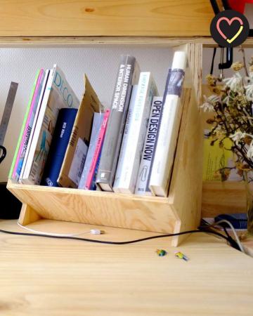 Compact boekenrekje