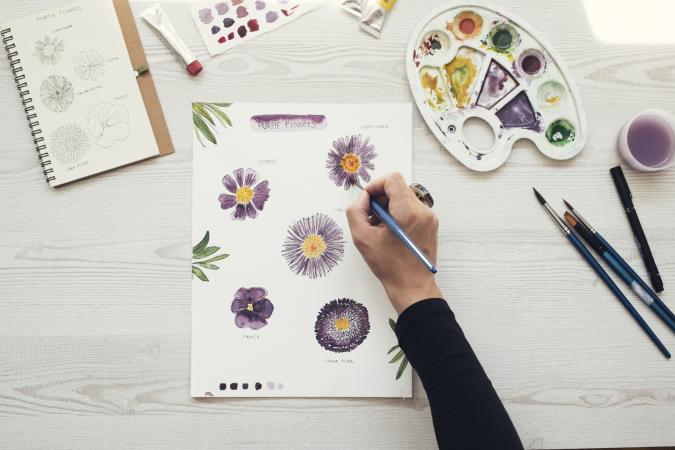 Un cours d'aquarelle en ligne