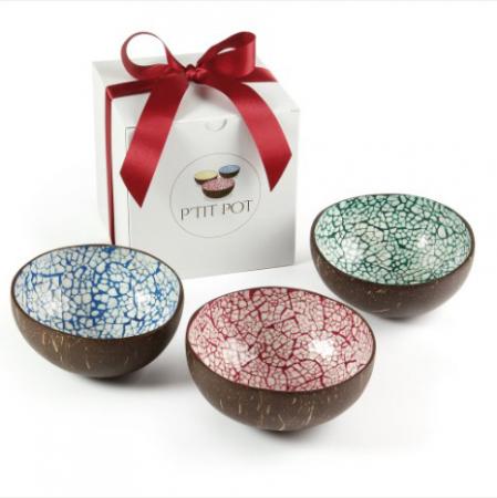 Set van duurzamecoconut bowls