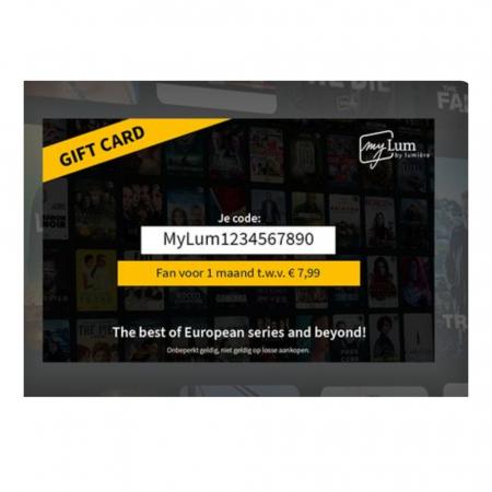 Cadeaubon myLum, Belgische streamingdienst voor films en series