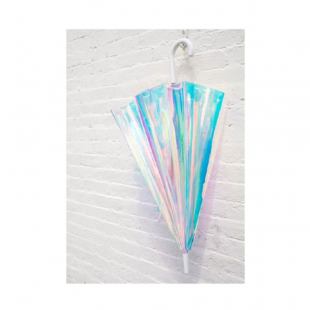 Transparante paraplu met holografisch effect