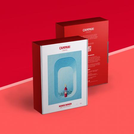 Giftbox Campari in samenwerking met verschillende kunstenaars