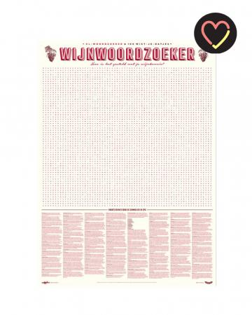 XL-woordzoeker voor de sommelier in huis