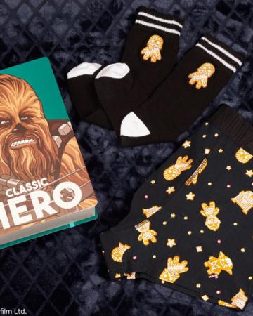 Boxershort en sokken met Chewbacca-print