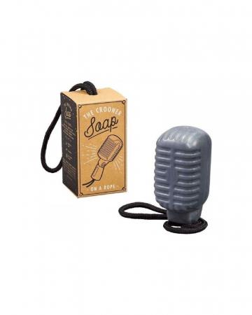 Microfoonvormige zeep voor die zangsessies onder de douche