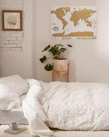 Krasbare wereldkaart (82 cm x 58 cm)