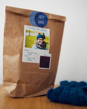 DIY-breipakket voor wollen hoofdband 'Molly'