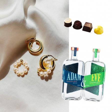 Oorbellen, alcoholvrije gin en Belgische pralines