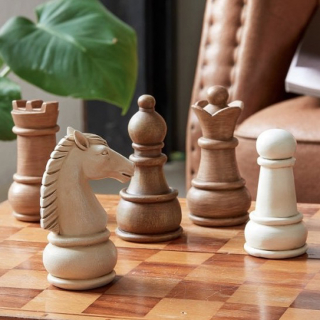 Houten schaakfiguren