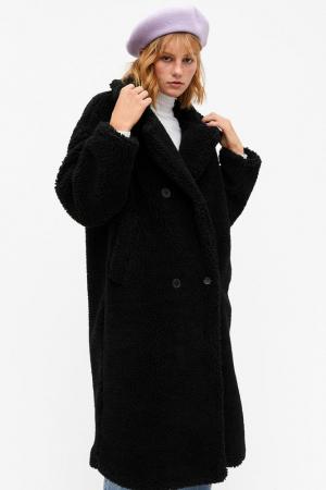 Zwarte lange mantel