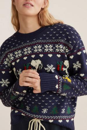 Kersttrui Snoopy