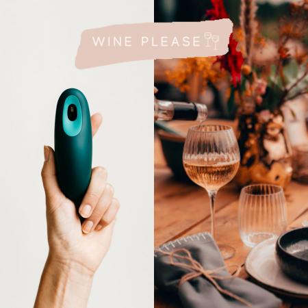 Feestelijke glazen, toestel om rustiger te ademen en wijnabonnement of -box