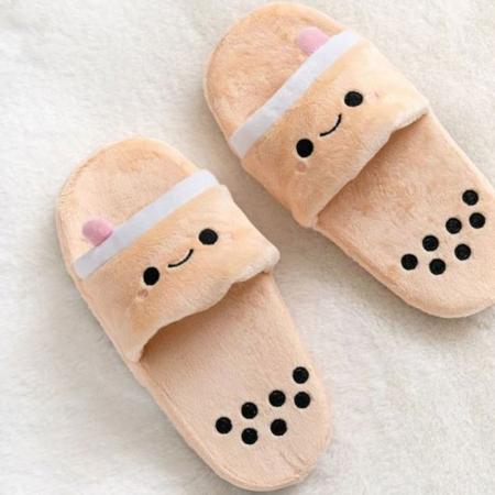 Bubble tea-slippers