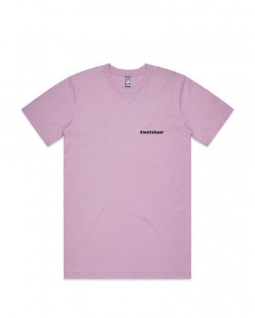 Paarse 'Kwetsbaar'-T-shirt