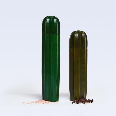 Zout- en pepermolen in cactusvorm