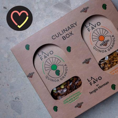 Giftbox by La Favo & Sergio Herman met granola en receptenboekje
