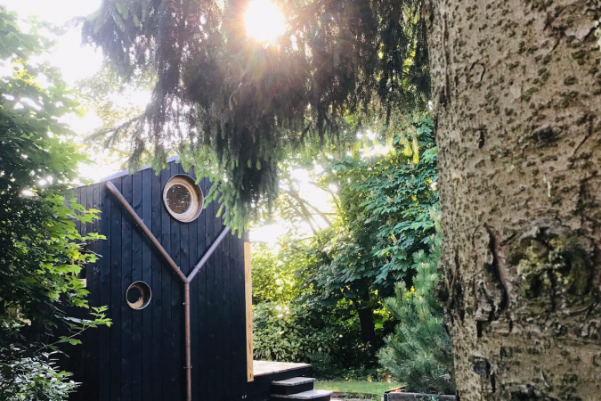 Houten tiny house in Luik