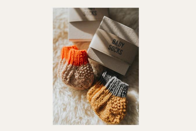 Babysokjes van duurzaam wol