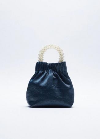 Petit sac avec poignée en perles