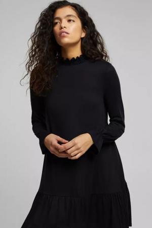 Zwarte jurk met kraagje