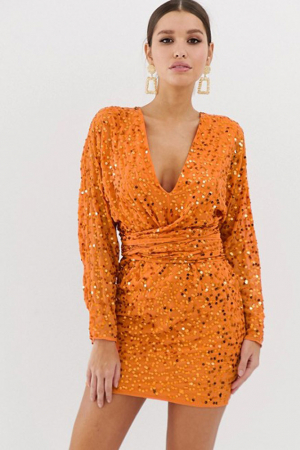 Oranje jurk
