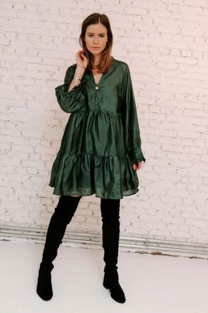Donkergroene jurk