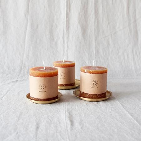 Giftset Let's get cosy (drie kaarsen met schaaltjes)
