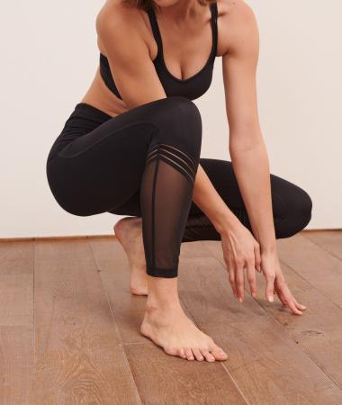 Zwarte legging met mesh