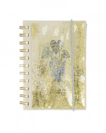Gouden glitterboek