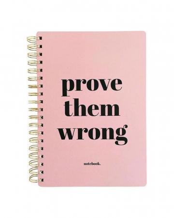 Notitieboek 'Prove them wrong'