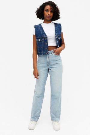 Lichtblauwe jeansbroek