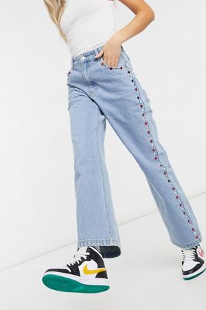 Jeansbroek met strass