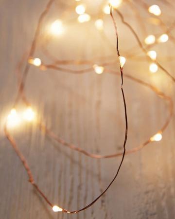 Koperkleurige lichtslinger