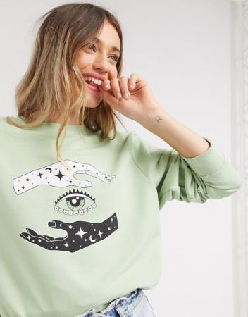 Muntgroene sweater