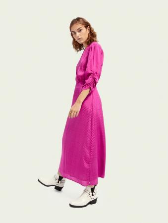 Zuurstokroze maxi-jurk