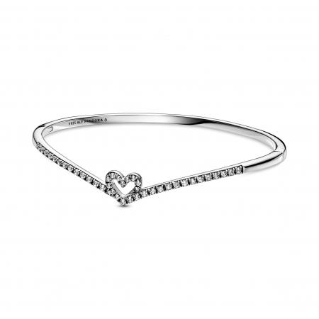 """Bracelet """"cœur"""" en argent avec zircons – 99€"""