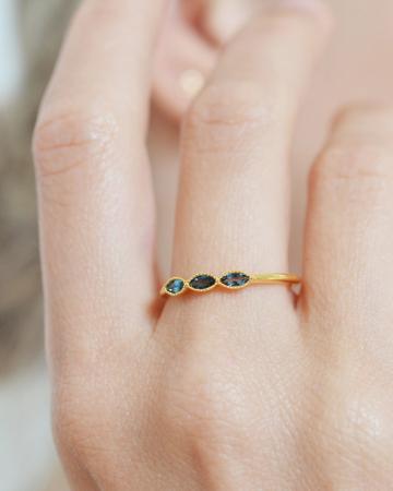 Fijne gouden ring