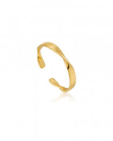 Gouden ring met twist