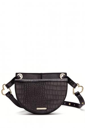 Zwarte handtas met gouden details