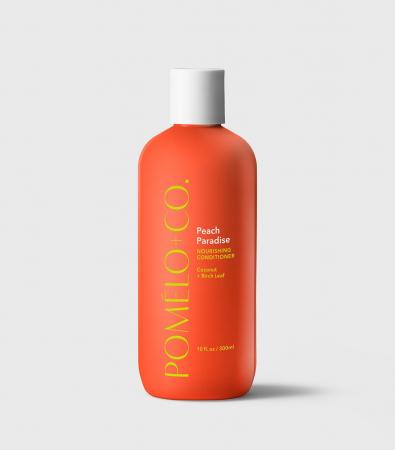 <em>Peach Paradise, après-shampooing nourrissant, 29,97 € – 8/10</em>