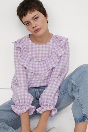 Geruite blouse