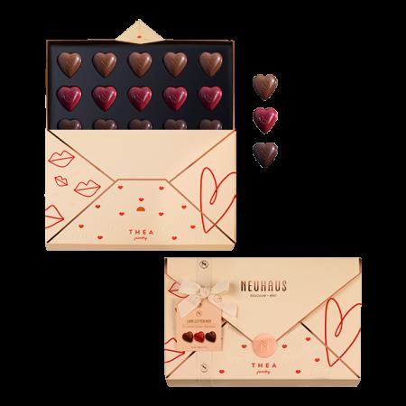 Une lettre d'amour en chocolat
