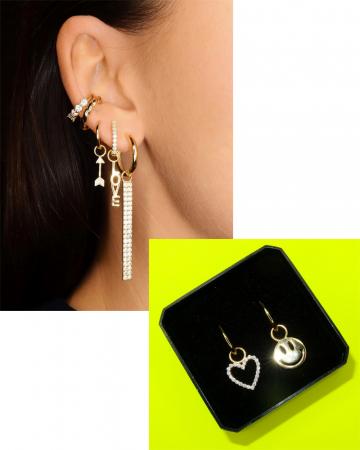 Des boucles d'oreilles