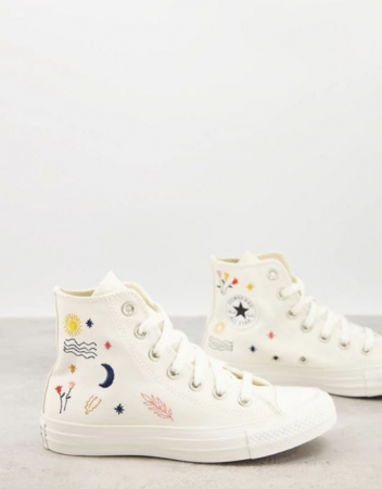 Sneakers blanches avec illustrations