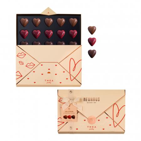 Love letter box met hartvormige pralines