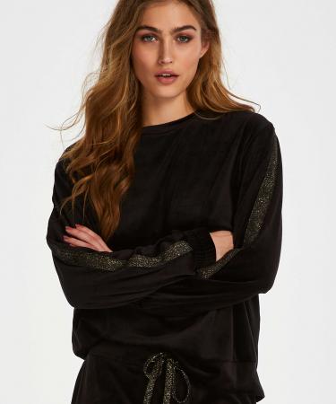 Zwarte trui in velours