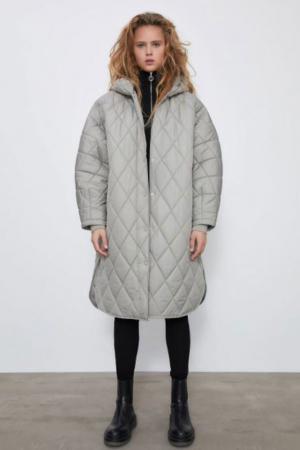 Oversized gewatteerde jas