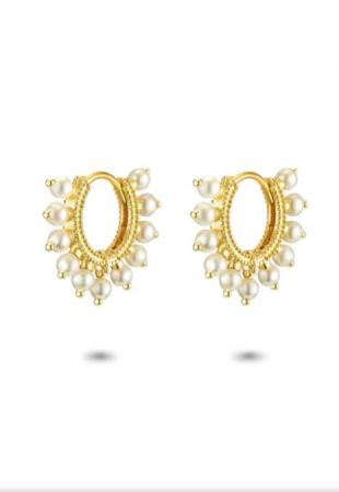 Boucles d'oreilles en argent plaqué or